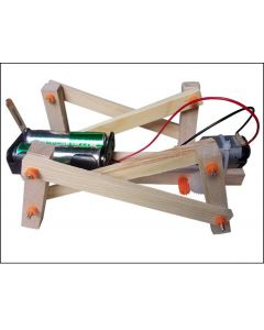 DIY Mechanical Dog for Kids Made with Multi Linkage Structure Wood Block