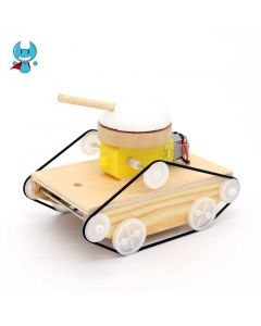 DIY Tank for Kids Made with Wooden Blocks