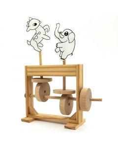 Demonstrating the Working Process of Eccentric Wheel to The Kids