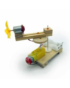 DIY Automatic Rotating Fan for Kids for Demonstrating Working Process of Mechanical Transmission