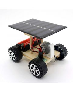 Solar Car for Kids Made with DIY Wooden Kits