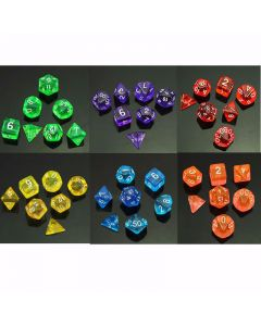 Monday Kids Multi-Sided Die D4 D6 D8 D10 D12 D20 MTG RPG D&D DND Board Game Chess Children Educational Math Toy for Kids