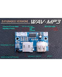 [Upgraded Version] Monday Kids 12V Mini WAV MP3 Decoder Board Lossless Decoding Module Two Channel Output For Music Audio Player USB Sound Card +Remote Control
