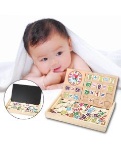 Monday Kids Montessori Educational Toys For Children Kids Early Learning Wooden Toy Box Math Numbers Stickers Puzzle Wooden Math Toys