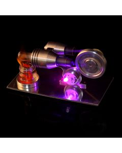 Monday Kids Stirling Engine Model DIY Kit Physics Science Lamp Experiment Toy Model Building Kits Toys For Children