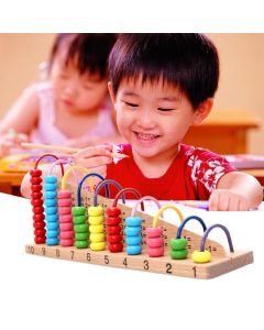 Wooden Abacus Counting Beads Math Toy Clouds Computation Bead Blocks Kids Montessori Learning Early Educational Children Gift