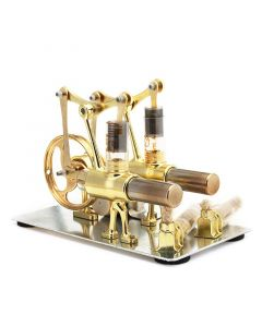 Monday Kids Balance Stirling Engine Miniature Model Steam Power Technology Scientific Power Generation Experimental Toy