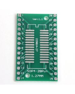 Monday Kids 20pcs/lot SOP28 SSOP28 to DIP28 Pinboard DIP To SMD Adapter 0.65mm/1.27mm to 2.54mm DIP Pin Pitch PCB Board Converter Module