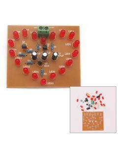 Monday Kids DIY Kit Heart-Shaped LED Flash Light Cycle Flashing Light Electronic Suit Heart-shaped Lamp DIY Electronic Circuit Board