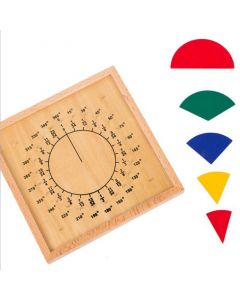 Monday Kids Baby Child Early Educational Toys Circular Mathematics Fraction Division Teaching Montessori Board Wooden Toys Gift Math Toy