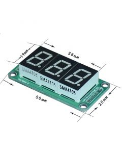 Monday Kids 74HC595 Static Driving a 3 Segment Digital Display Module Seamless Can Series 0.5-inch 3-bright Red