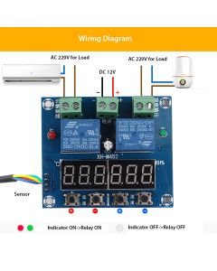 Monday Kids Humidity Temperature Controller DC 12V 0-100%RH -20-60 Celsius Digital LED Digital Dual Display