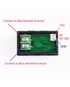 Monday Kids DC 4.0V-28V Thermometer High Temperature Meter K-Type M6 Thermocouple Tester Single Digital LED Display