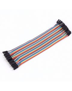 Monday Kids 40pcs/lot 20cm Dupont Color Cable Female to Male 1P-1P 2.54mm Dupont Wire Jump Wire Cable Colorful Dupont Jumper Wire