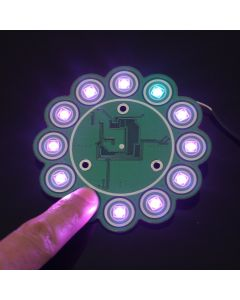 Monday Kids Capacitive Touch Button RGB Full Color LED Flow Lamp Module WS2812B TTP224 for Arduino AVR