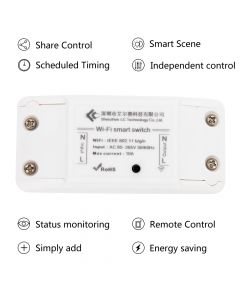 Monday Kids AC 220V Power Switch Wireless Remote Automation Controller WIFI Relay Module APP for DIY Smart Home