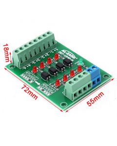 Monday Kids 24V to 5V 4 Channel Optocoupler Isolation Board Isolated Module PLC Signal Level Voltage Converter Board 4 Bit