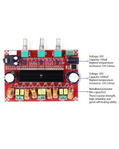 Monday Kids TPA3116D2 Digital Subwoofer Amplifier Board DC12V-24V 2x50W 100W XH-M139 2.1 Channel Digital Power Amplifier for DIY Audio