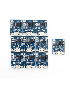 Monday Kids 10Pcs/lot TP4056 5V 1A Micro USB Charger Module 18650 Lithium Battery Charging Board Led Indicator Current Adjustable
