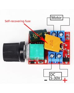 Monday Kids Mini DC-DC 5-30V 5A 90W Motor PWM Speed Controller Module Control Switch 10Khz LED Dimmer Adjustable Board Switch