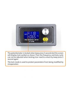 Monday Kids XY-PWM Signal Generator 1-Channel 1Hz-150KHz PWM Pulse Frequency Duty Cycle Adjustable Module with LCD Display