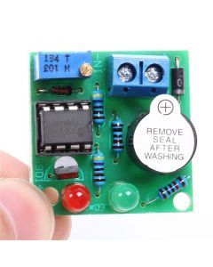 Monday Kids LM358 12V On-Board Lithium Battery Low Voltage Alarm Buzzer Lipo-Lion Under Vlotage Protection Module With LED Indicator