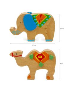 Monday Kids Cute Cartoon Animal Educational Balancing Wooden Math Toys Elephant Camel Game Wood Balance Montessori Toys Baby Math Kids