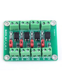 Monday Kids PC817 4 Channel Optocoupler Isolation Board Voltage Converter Adapter Module 3.6-30V Driver Photoelectric Isolated Module 817