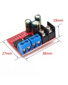 Monday Kids 5A 3V-14V Dual DC Motor Drive Module Remote Control Voltage Reverse PWM Speed Regulation Double H Bridge Super L298N 5AD