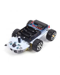 Monday Kids DIY Kit C51 Intelligent Vehicle Obstacle Avoidance Tracking Intelligent Car Kit Two Motor Drives Smart vehicle Robot Car DIY Kit