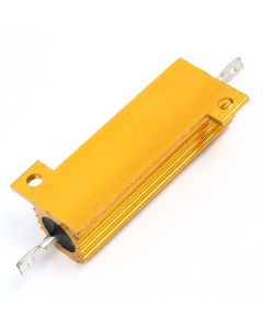 Monday Kids RX24 1R 1 Ohm 50W Aluminum High Power Resistor Metal Shell Case Heatsink Resistance Resistor