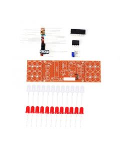 Monday Kids Red Blue Double Color Flashing Lights DIY Kit Strobe NE555 + CD4017 Electronic Practice Learning Kits Suite Parts Gift