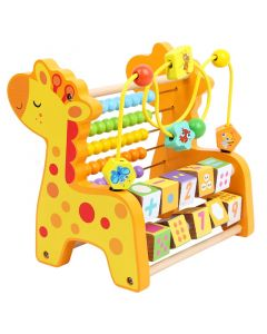 Monday Kids Funny Education Wooden Montessori Math Toys Multi-function Abacus Toys Around Beads Early Learn Teaching Aids Educational Toys For Children Gift