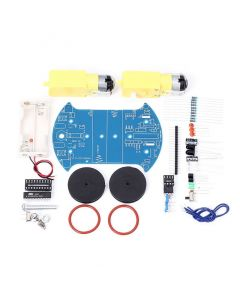 Monday Kids D2-2 DIY Kit Intelligent Tracking Line Smart Car Suite Kit AT89C2051 51 MCU Electronic Production Smart Patrol Automobile Parts