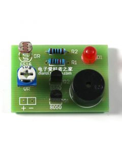 Monday Kids Photosensitive Sound Light Alarm DIY Kit Electronic Production Invention Assembly Sound and Light Sensor Module Device Suite