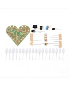 Monday Kids Green DIY Heart Shape Breathing Lamp Kit DC4V-6V DIY Electronic Production DIY Kits Heart Shaped Lamp Suite Electronic DIY Kit