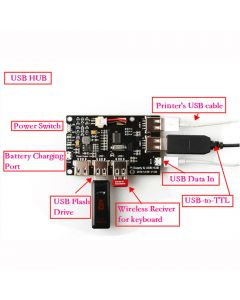 Monday Kids 5V 2A Power Supply Board Module USB HUB Lithium Battery Module for Raspberry Pi 3 Zero/3B/2B/B