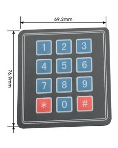 Monday Kids 10pcs/lot 3*4 Matrix Keypad Membrane Switch MCU Expansion Keyboard Control Panel For Arduino