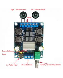 Monday Kids 2x50W TPA3116D2 Digital Power Amplifier Board Dual Channel Stereo Amplifier Module DC 4.5-27V