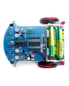 Monday Kids D2-3 3-5V Infrared Tracking Obstacle Avoidance Smart Car DIY Kits Smart Patrol Automobile Parts STC15W201S 51 MCU Electronic