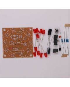 Monday Kids DIY Kits Electronic Lucky Rotary Module Wheel Turntable Fortune Analog Lottery Tumbler Suite Fun Electronic Production 3-5V