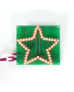 Monday Kids DIY Kit Colorful Glittering Five-Pointed Star Water Light LED Water Light Flashing LED Module DC 4.5V-5V 1.6mm PCB for Decor