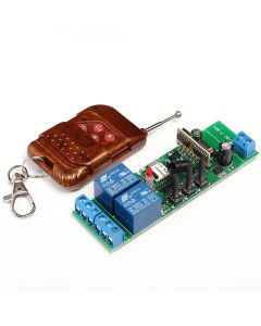 Monday Kids 7-32V 2 Channel Wifi Relay Switch Module + 433MHz Global Remote Control Inching Self-Lock Interlock For Android IOS Smart Home