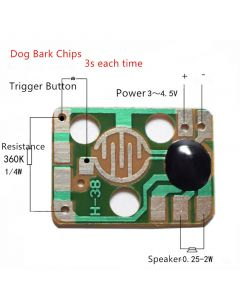 Monday Kids 10pcs Sound Module Trigger Dog Animals Barking Music Chips 3V Yelp Voice Module for DIY/Toy