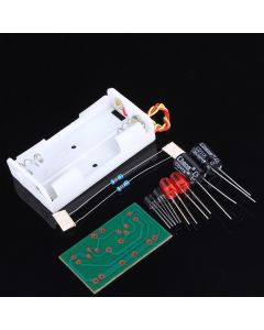 Monday Kids 2pcs DIY Kit Flash Circuit Multivibrator Circuit Suite Electronic Production Teaching Training Parts