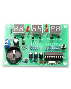 Monday Kids AT89C2051 Electronic Digital Clock Kit Display Suite Electronic Module Parts and Components DIY Kits DC 9V-12V